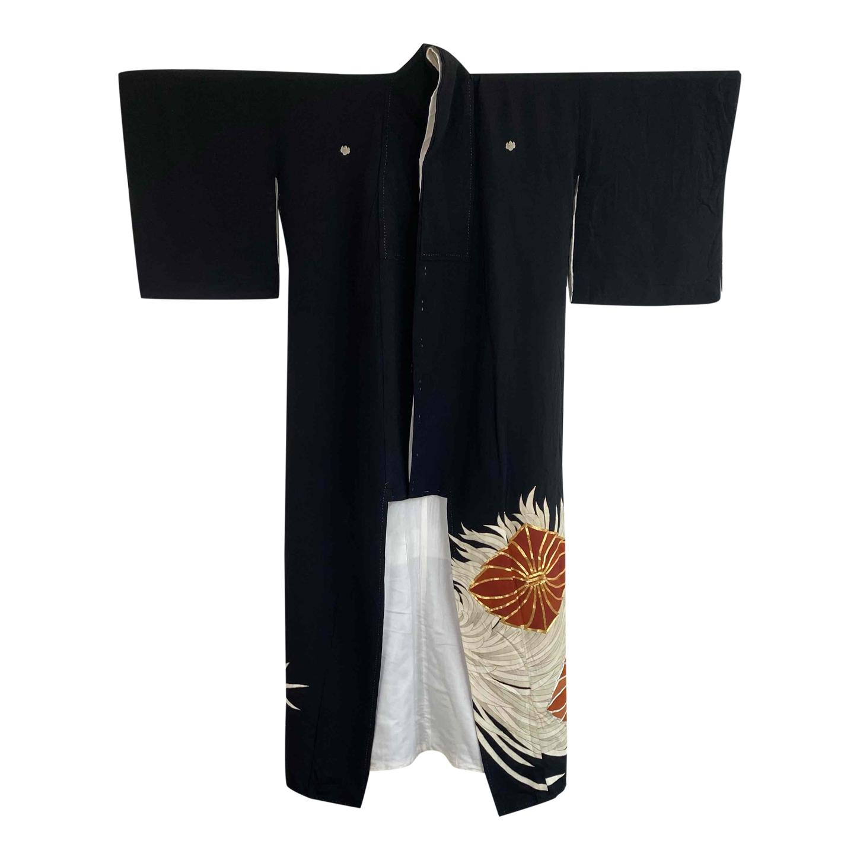 Kimono en soie et coton