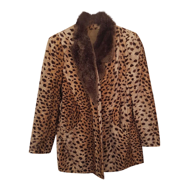 Manteau en fausse fourrure léopard