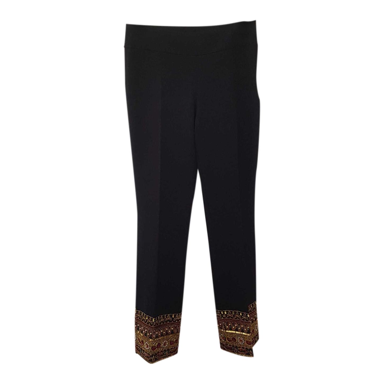 Pantalon droit brodé