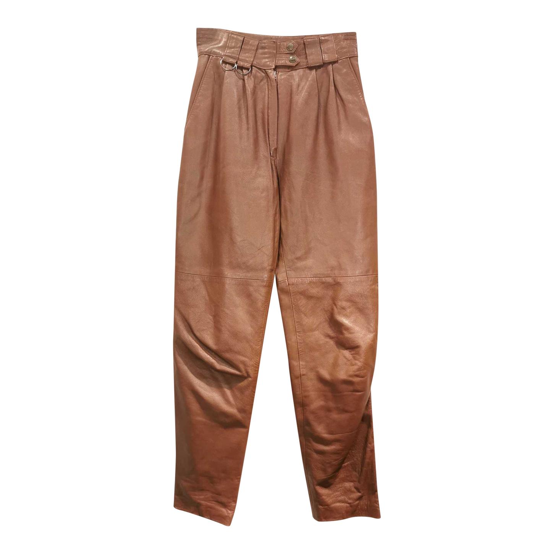 Pantalon Mom en cuir
