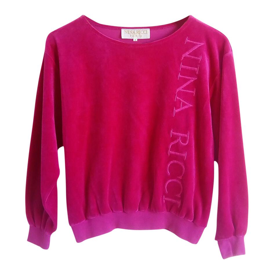 Sweat-shirt Nina Ricci en velours