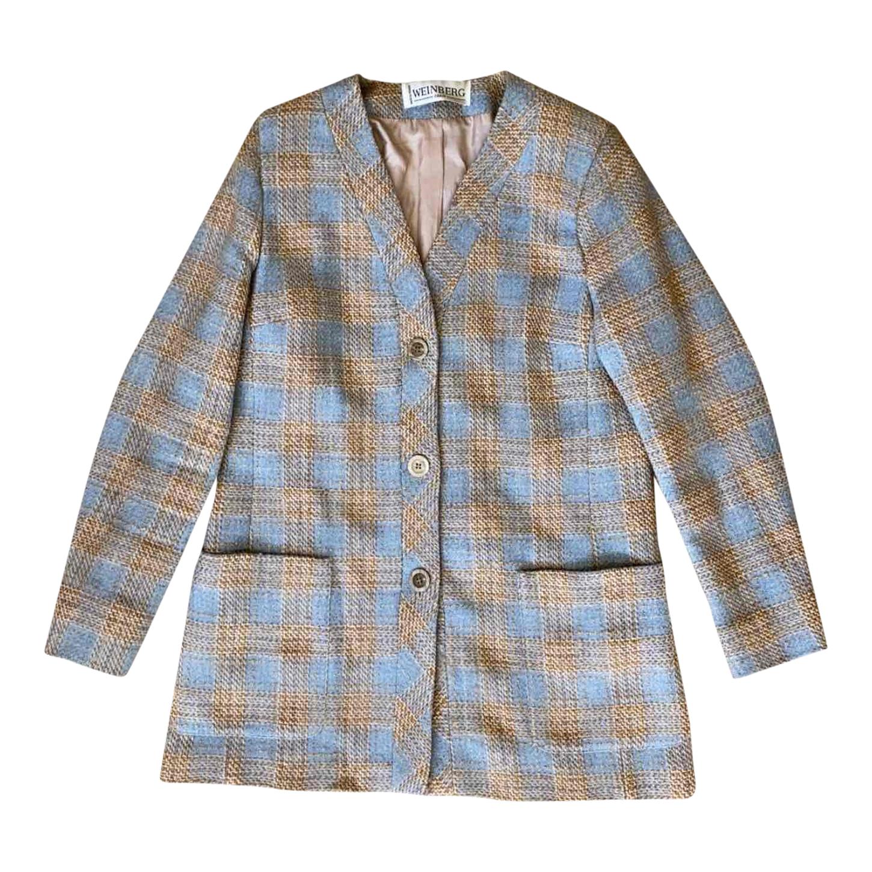 Veste à carreaux en laine