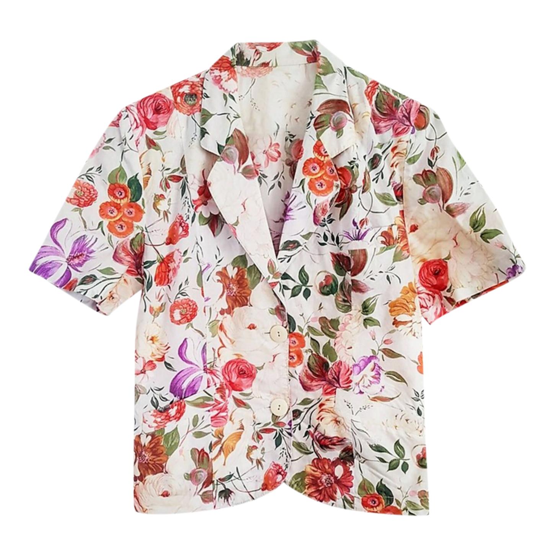Veste à fleurs