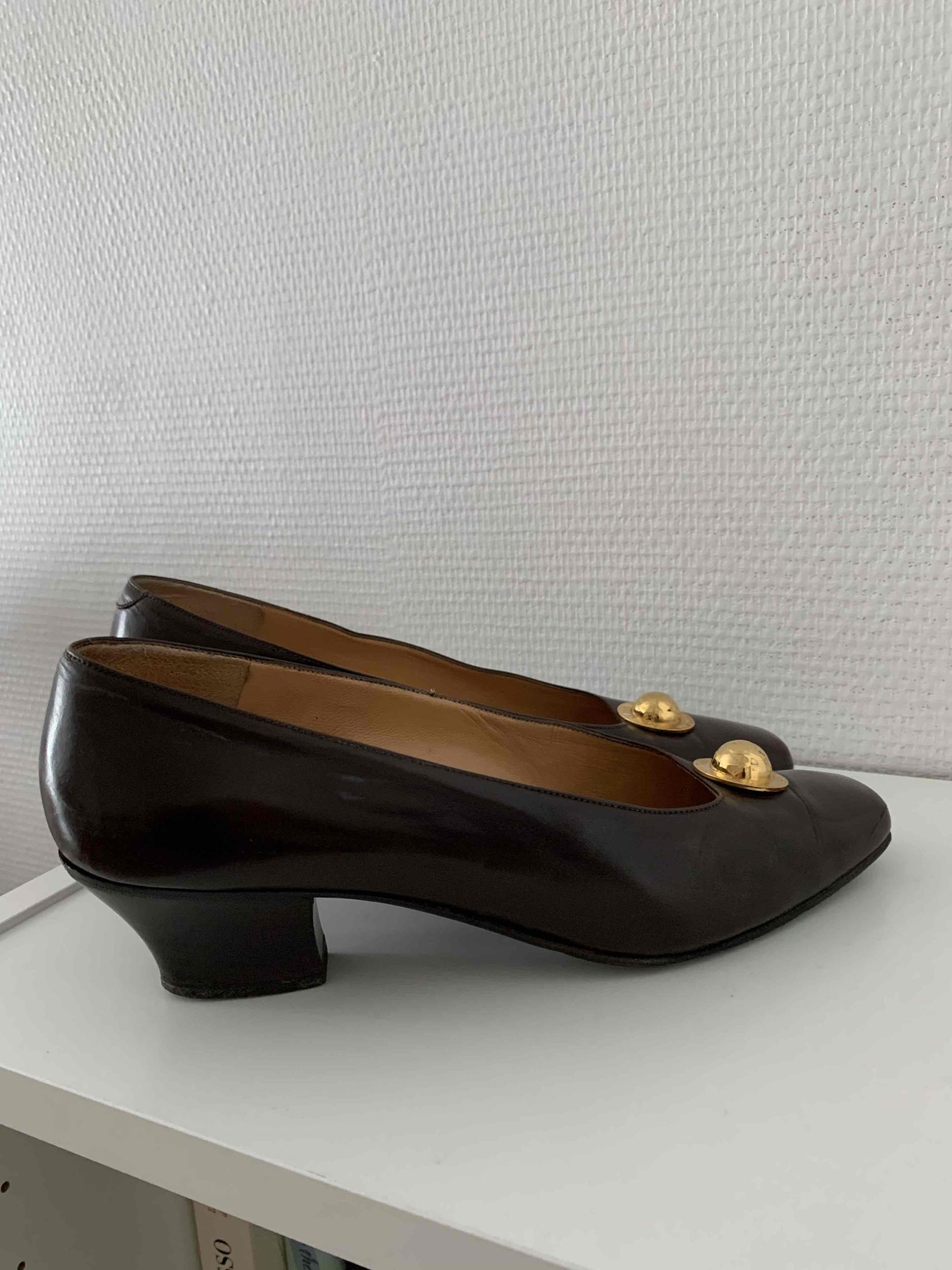 Escarpins Celine en cuir