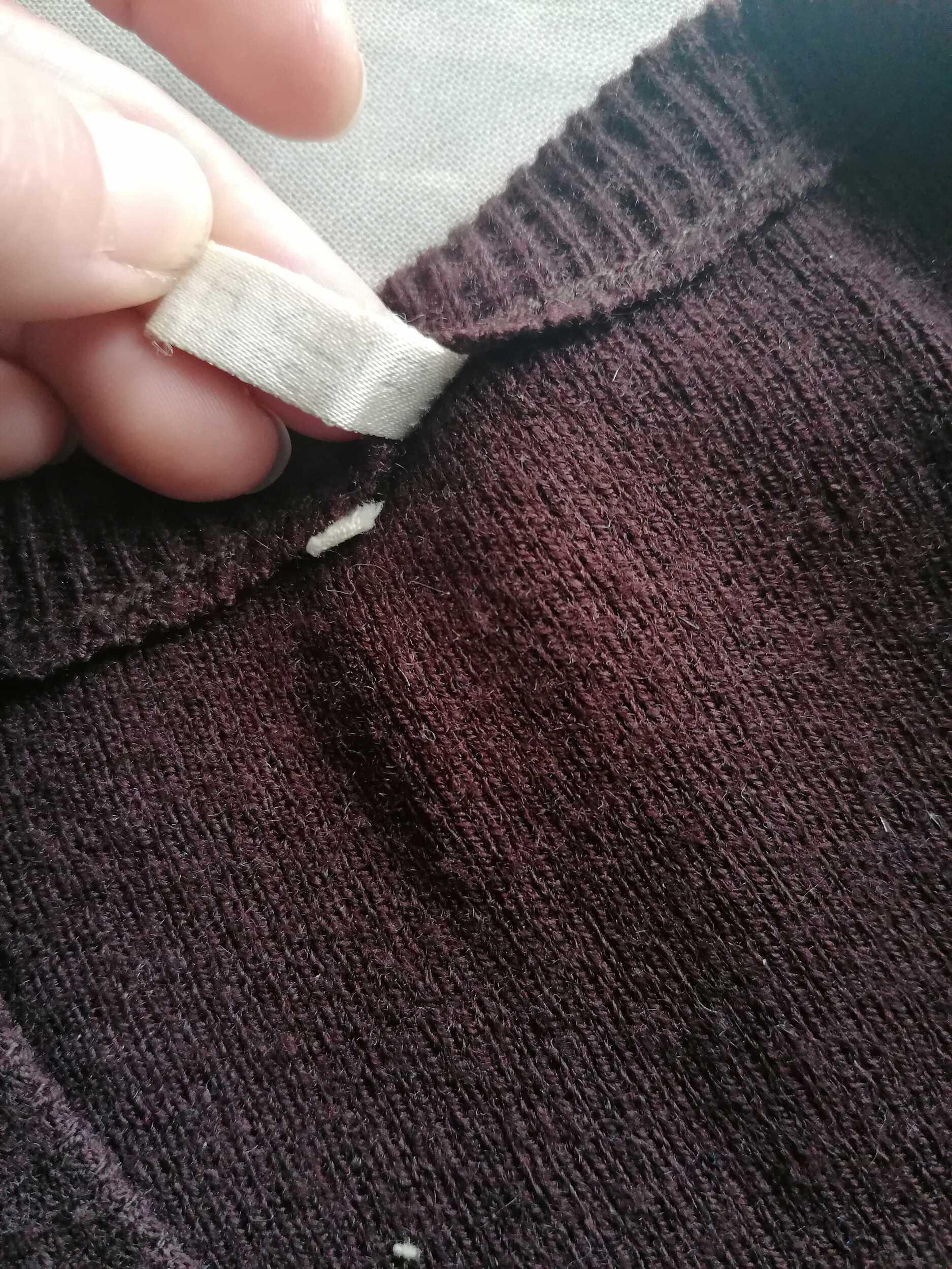 Pull sans manches en laine