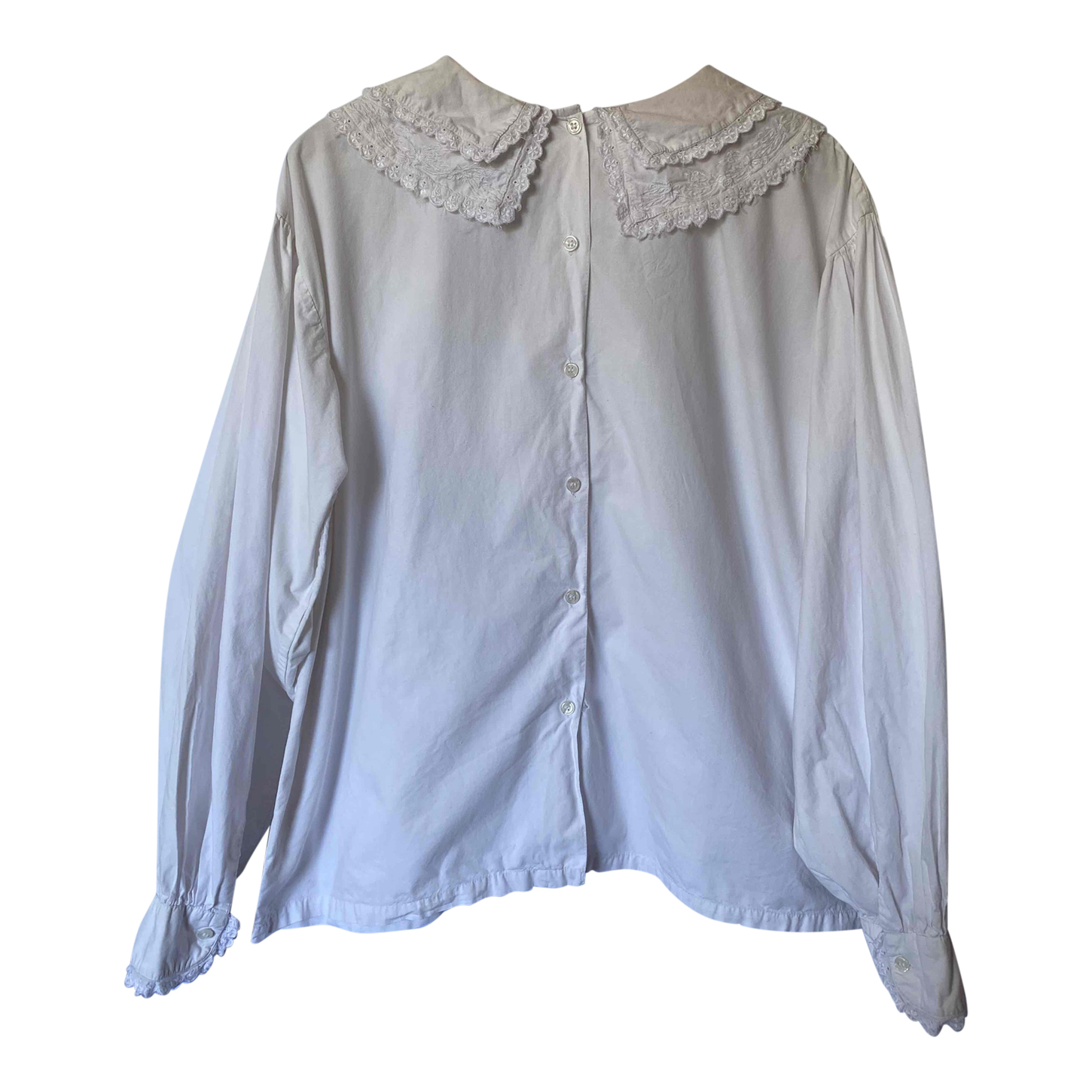 Blouse à grand col