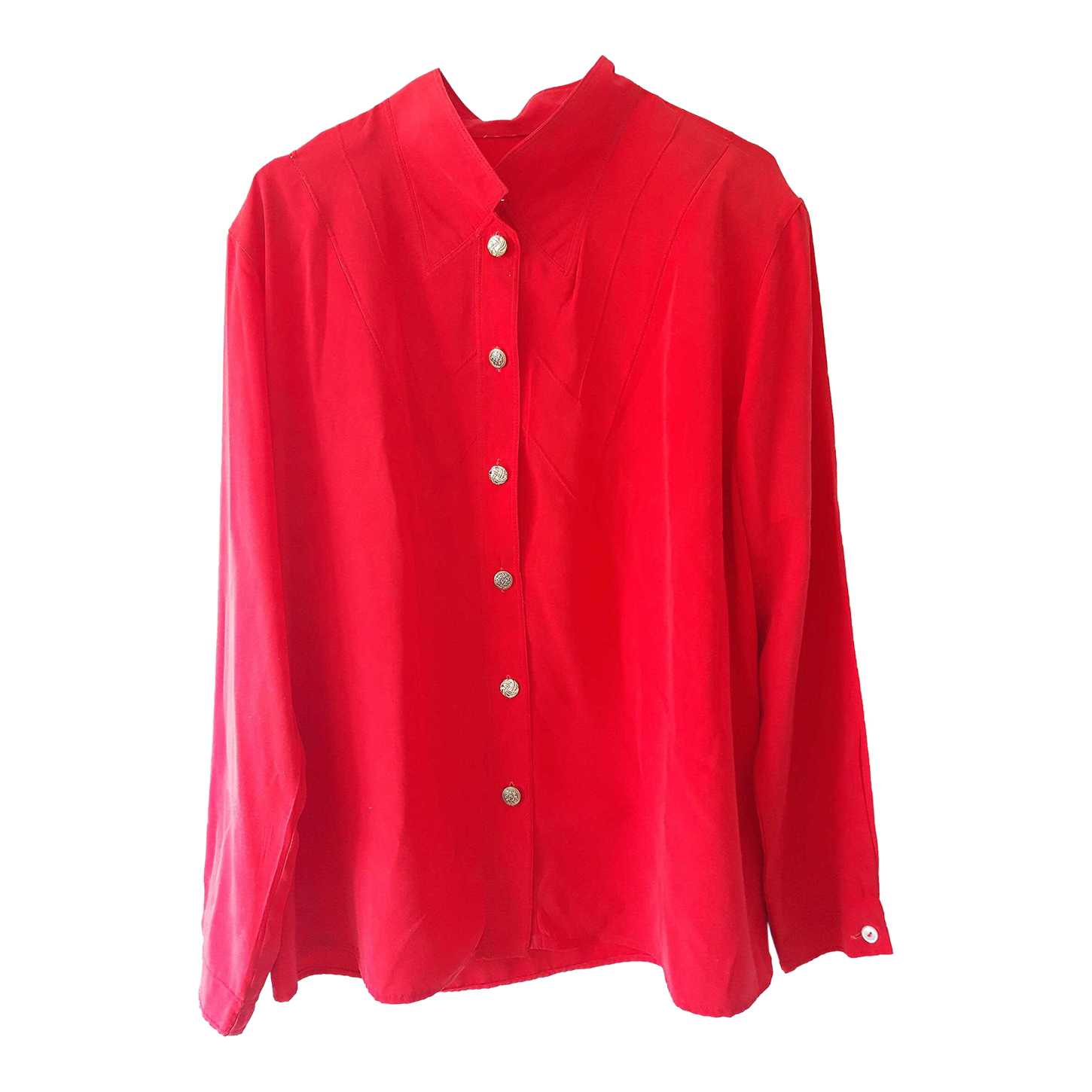 Blouse rouge 80s
