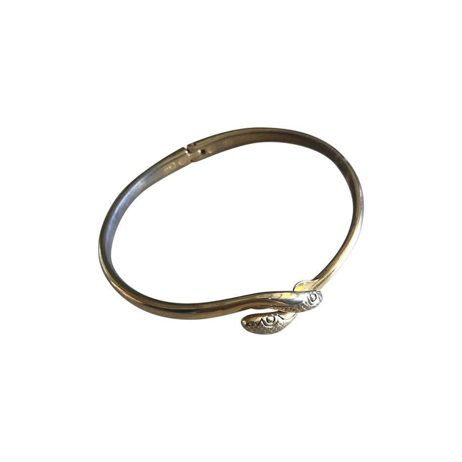 Bracelet jonc en métal doré
