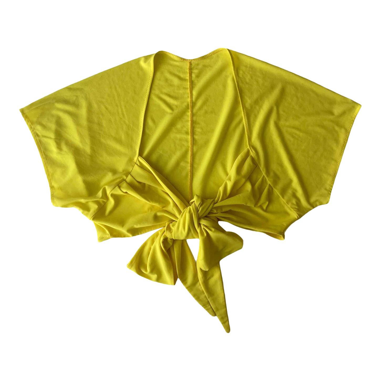 Cache-cœur jaune
