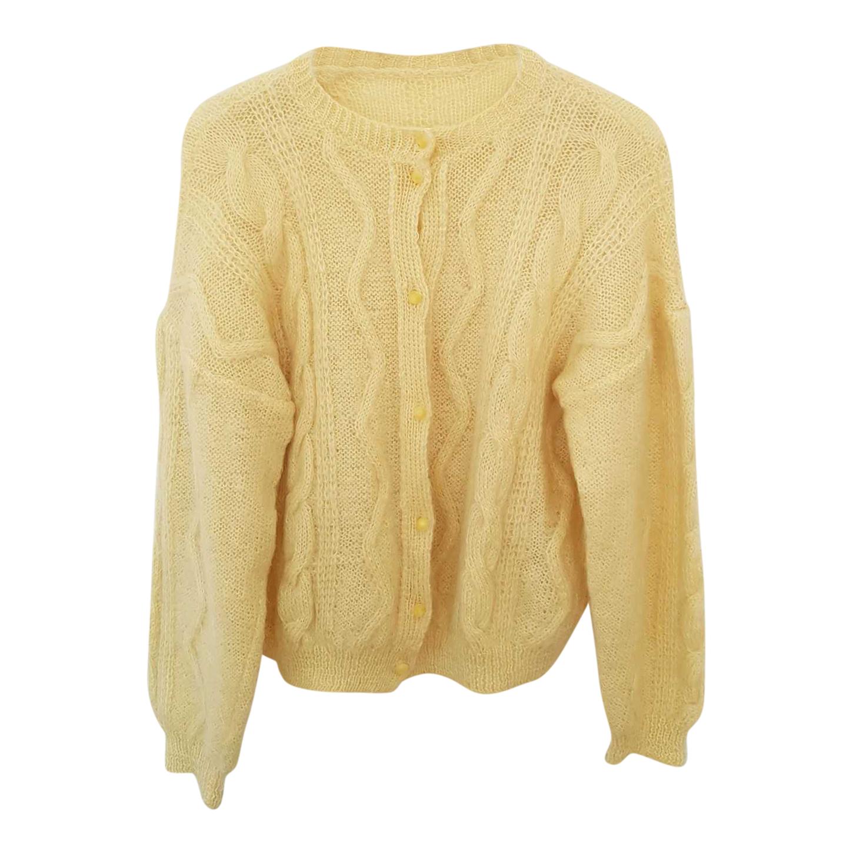 Cardigan jaune pastel