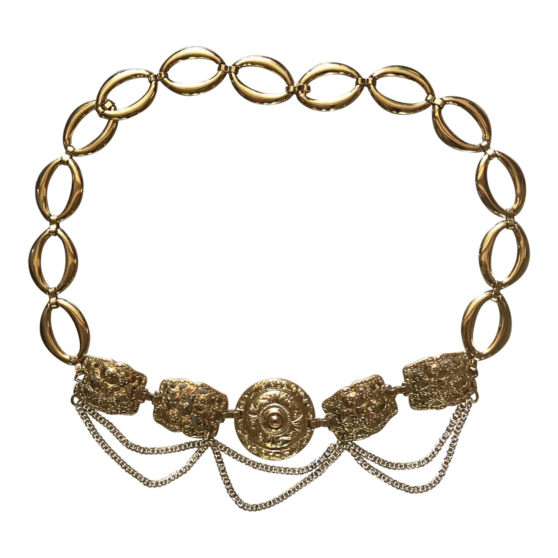 Ceinture chaîne en métal doré
