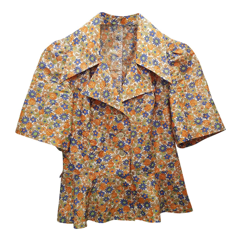 Chemise à fleurs 70's