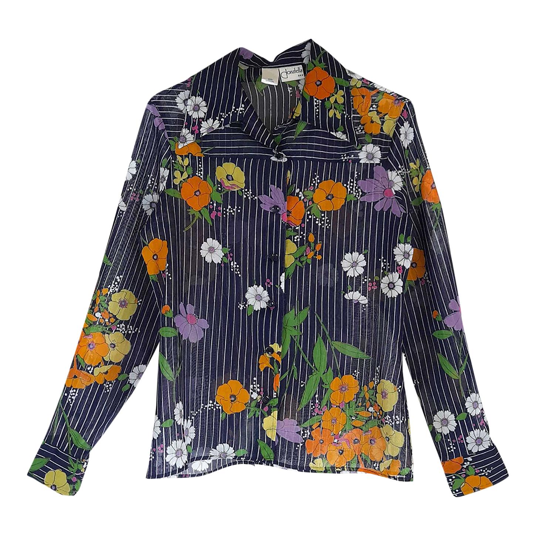 Chemise à fleurs et rayures