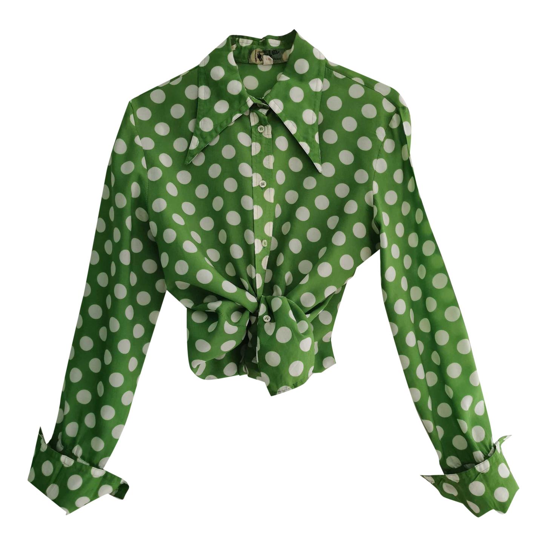 Chemise à pois 70s