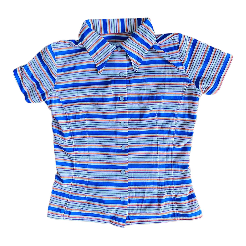 Chemise à rayures multicolores