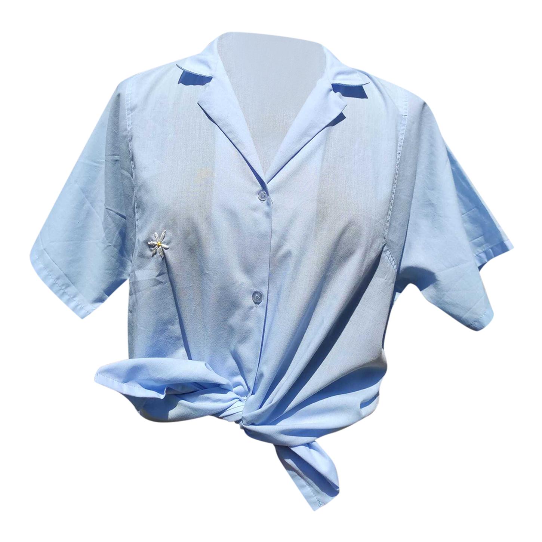 Chemise bleu pastel