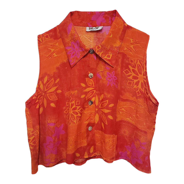 Chemise courte à motifs