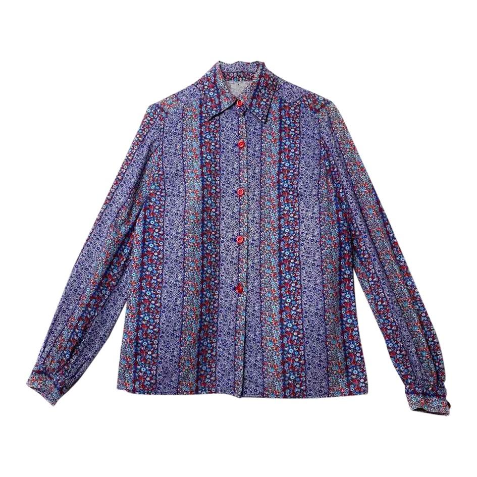 Chemise en coton à fleurs