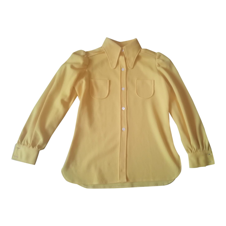 Chemise jaune 70's