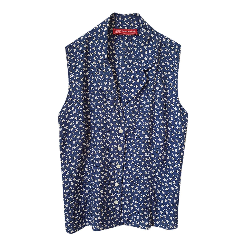 Chemise sans manches à fleurs