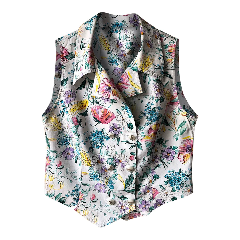 Chemise sans manches fleurie