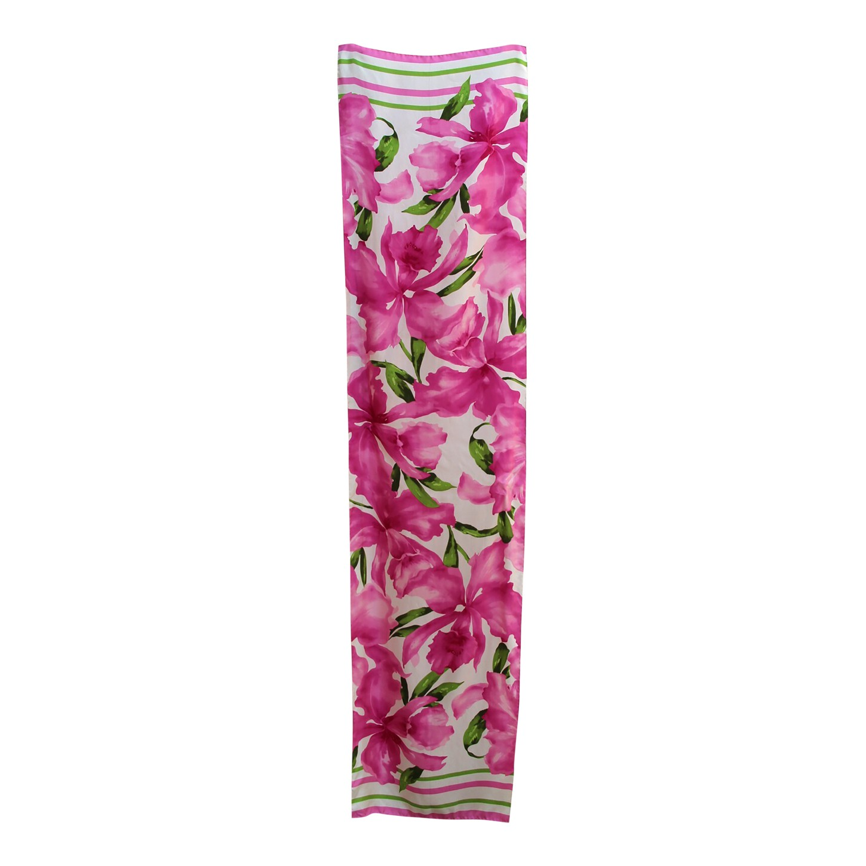 Foulard en soie à fleurs