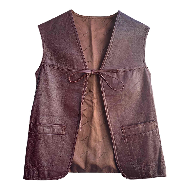 Gilet Yves Saint Laurent en cuir