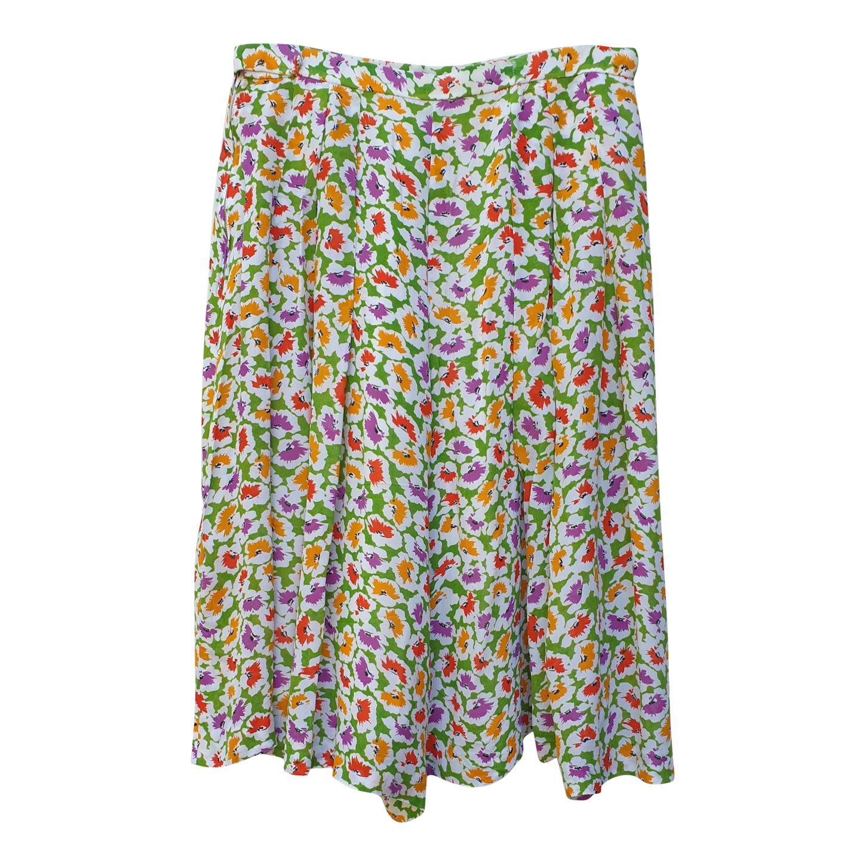 Jupe-culotte à fleurs