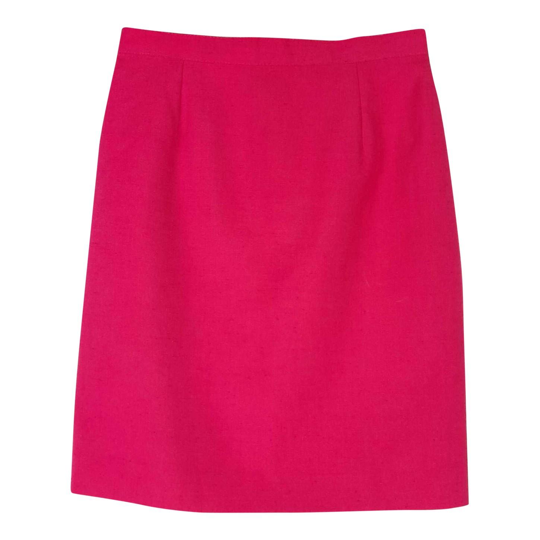 jupe droite taille haute