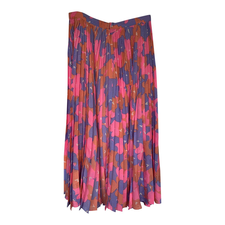 Jupe plissée en soie