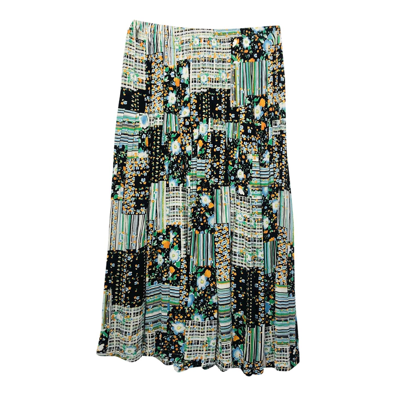 Jupe plissée patchwork