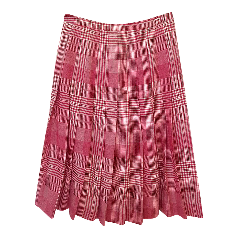 Jupe plissée rose
