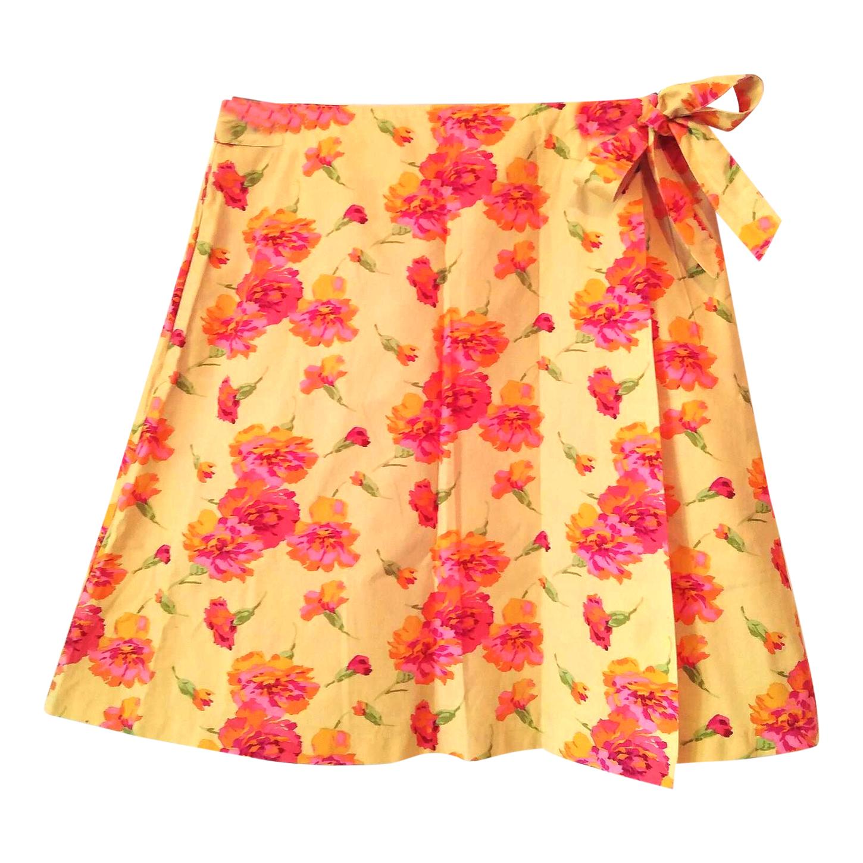 Jupe portefeuille à fleurs