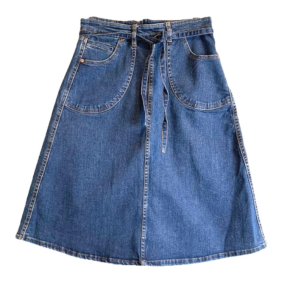 Jupe trapèze en jean