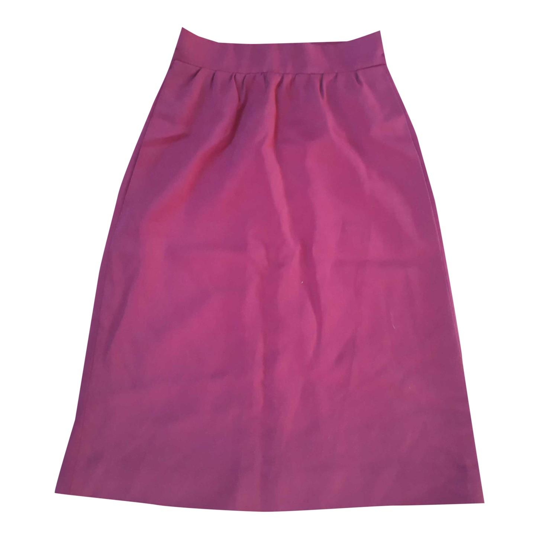 Jupe violette taille haute