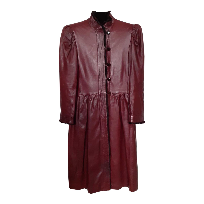 Manteau en cuir Yves Saint Laurent