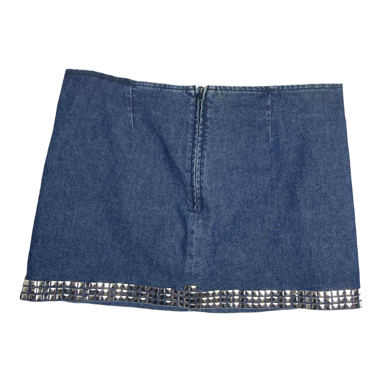 Mini-jupe en jean Moschino