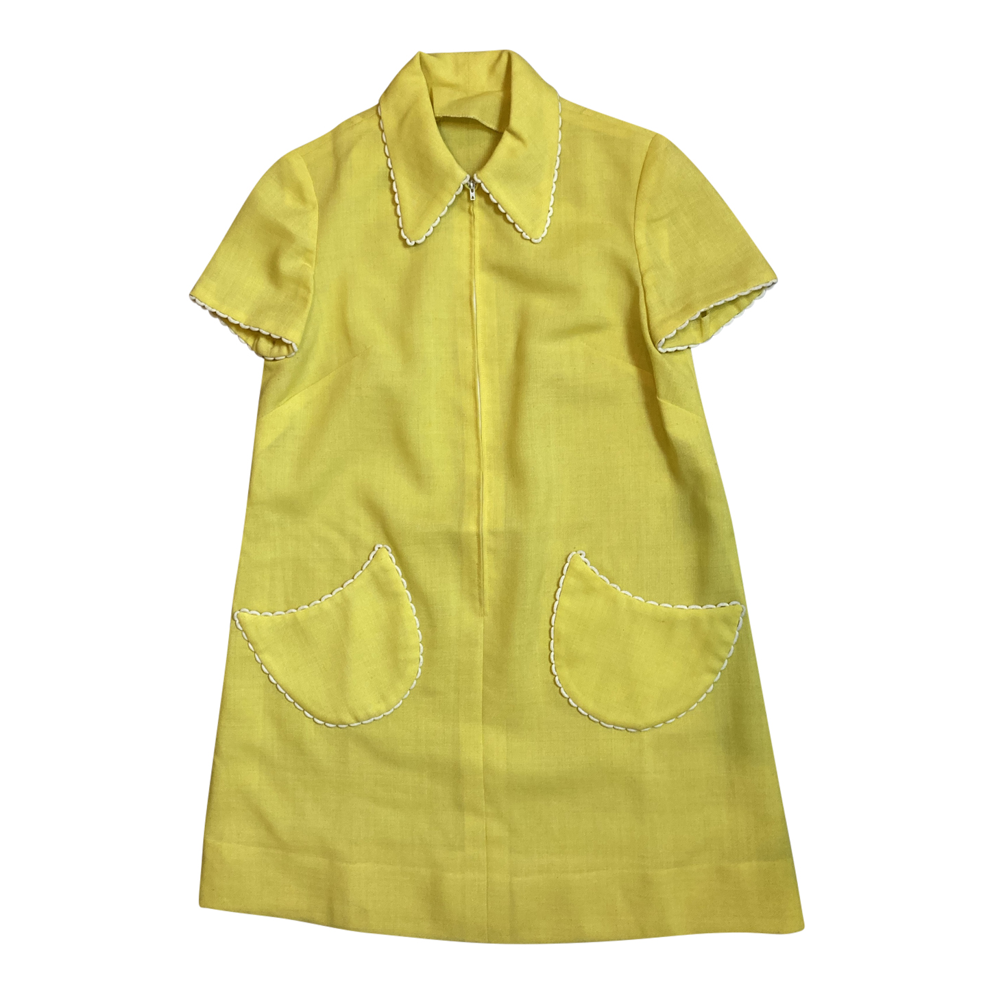 Mini robe jaune 60's