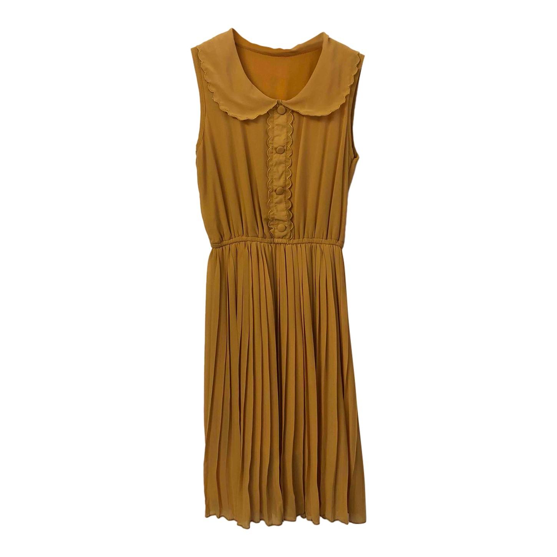 Mini robe jaune