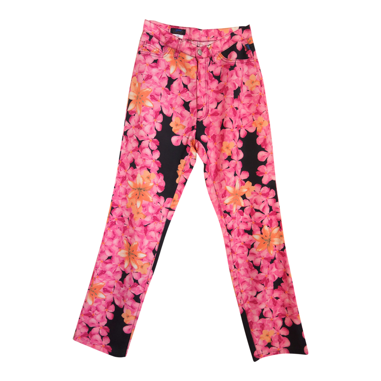 Pantalon à fleurs Christian Lacroix