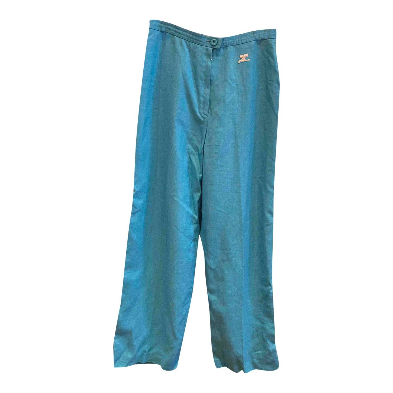 Pantalon Courrèges bleu
