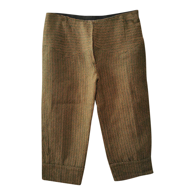 Pantalon court en laine