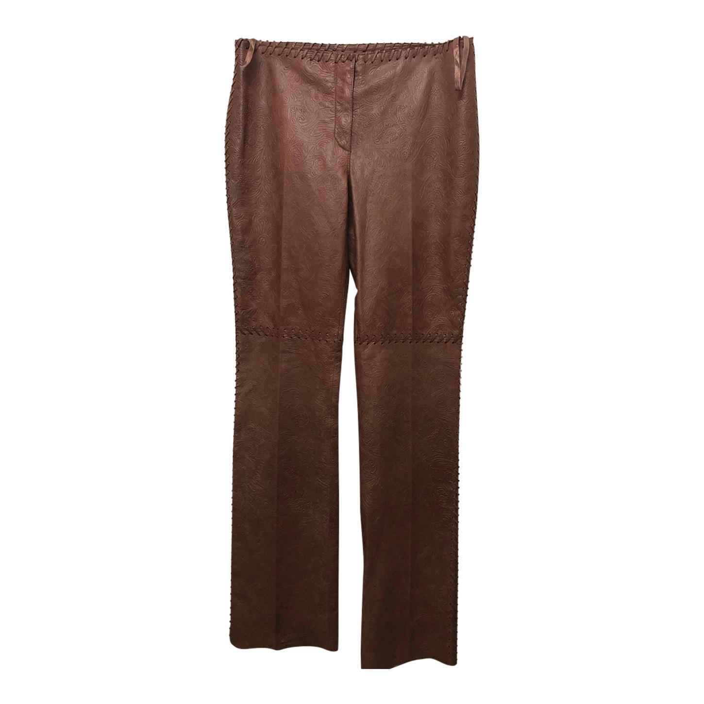 Pantalon en cuir imprimé