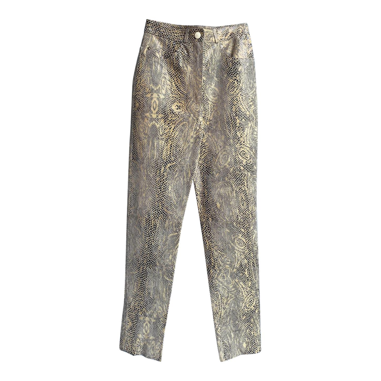 Pantalon en cuir Nina Ricci