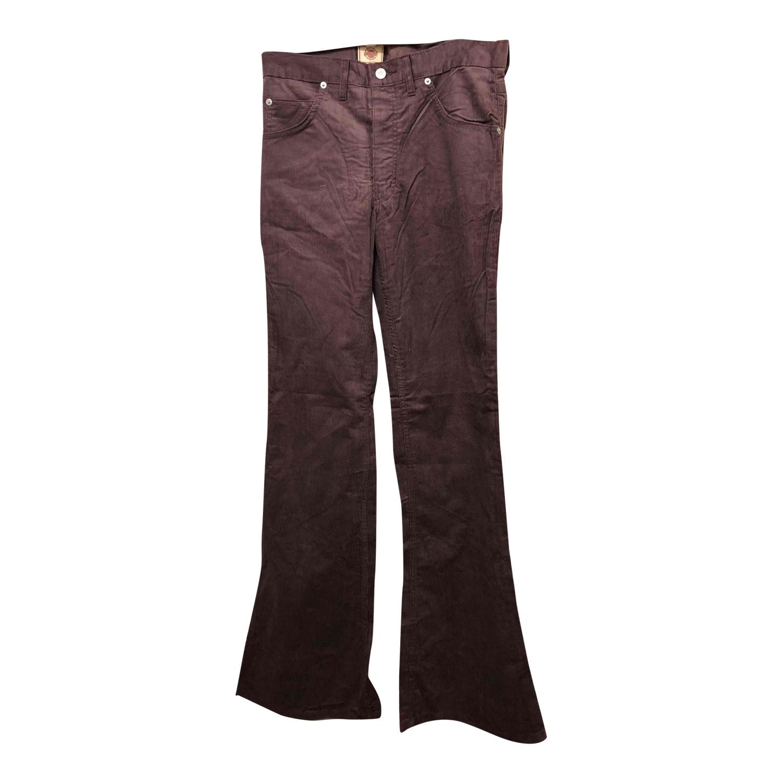 Pantalon flare en velours côtelé
