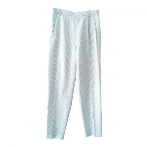 Pantalon vichy taille haute