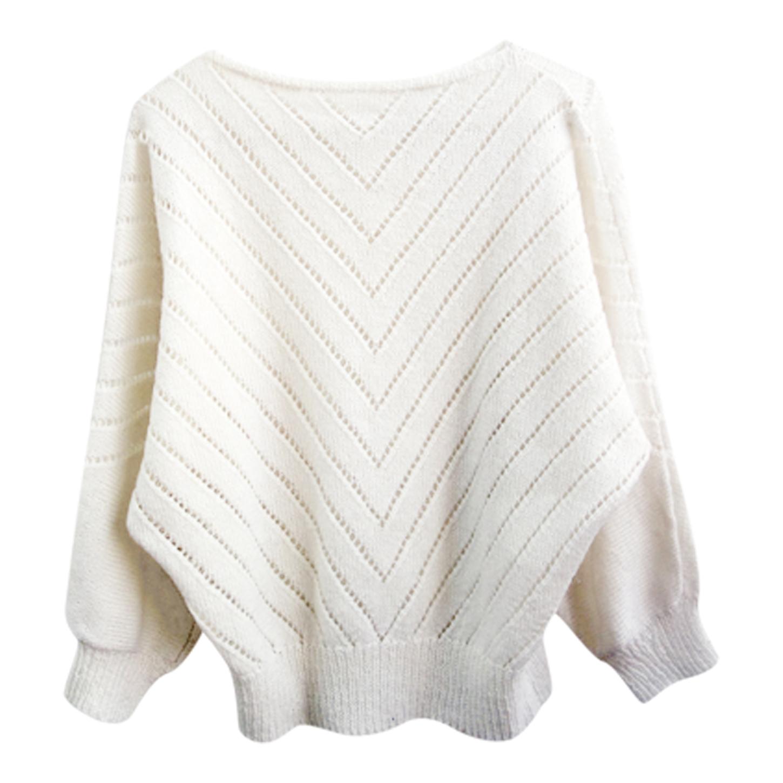 Pull en laine ajourée