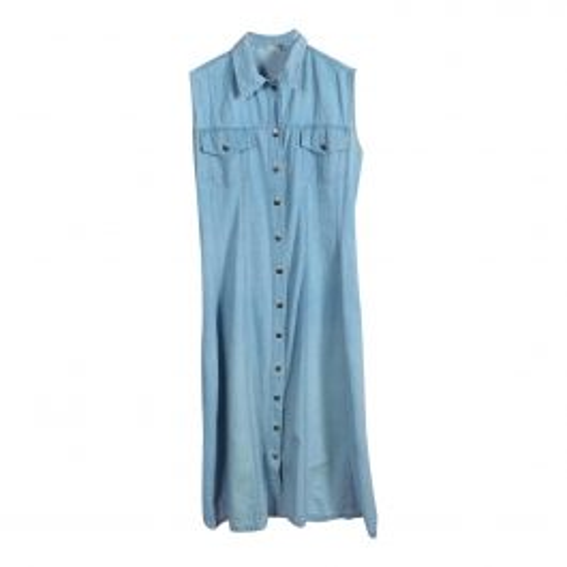 Robe boutonnée en jean