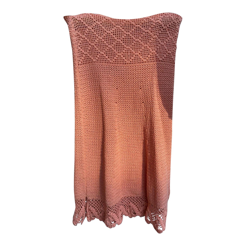 Robe bustier en crochet