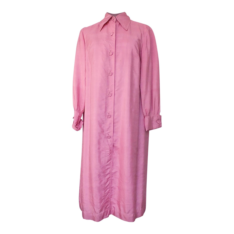 Robe chemise en soie